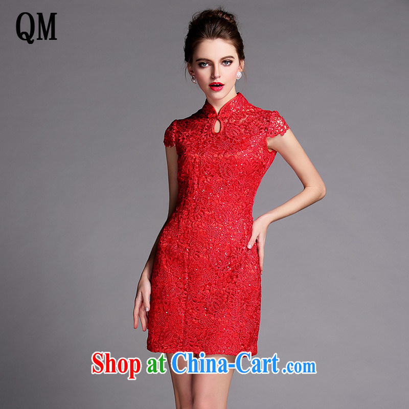 light at the Summer improved Stylish slim body language empty water-soluble, dresses wedding dresses XWG 140,502 red XXL
