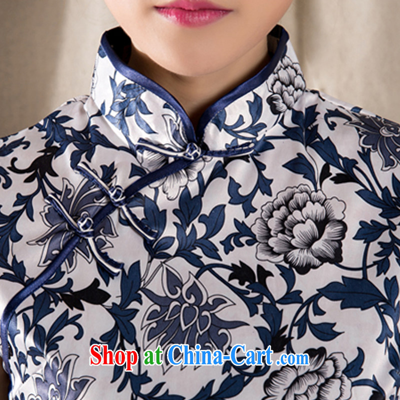 The Stephanie 2015 spring and summer new Ethnic Wind Chinese improved cheongsam shirt cultivating cotton Ms. Yau Ma Tei Tong load Z 1231 XXL suit, Stephanie (MOOFELNY), online shopping