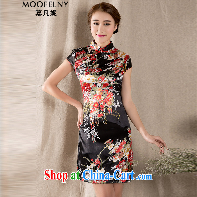 The Stephanie 2015 spring and summer with new short-sleeved Tang with improved cheongsam retro China wind women dress suit XL