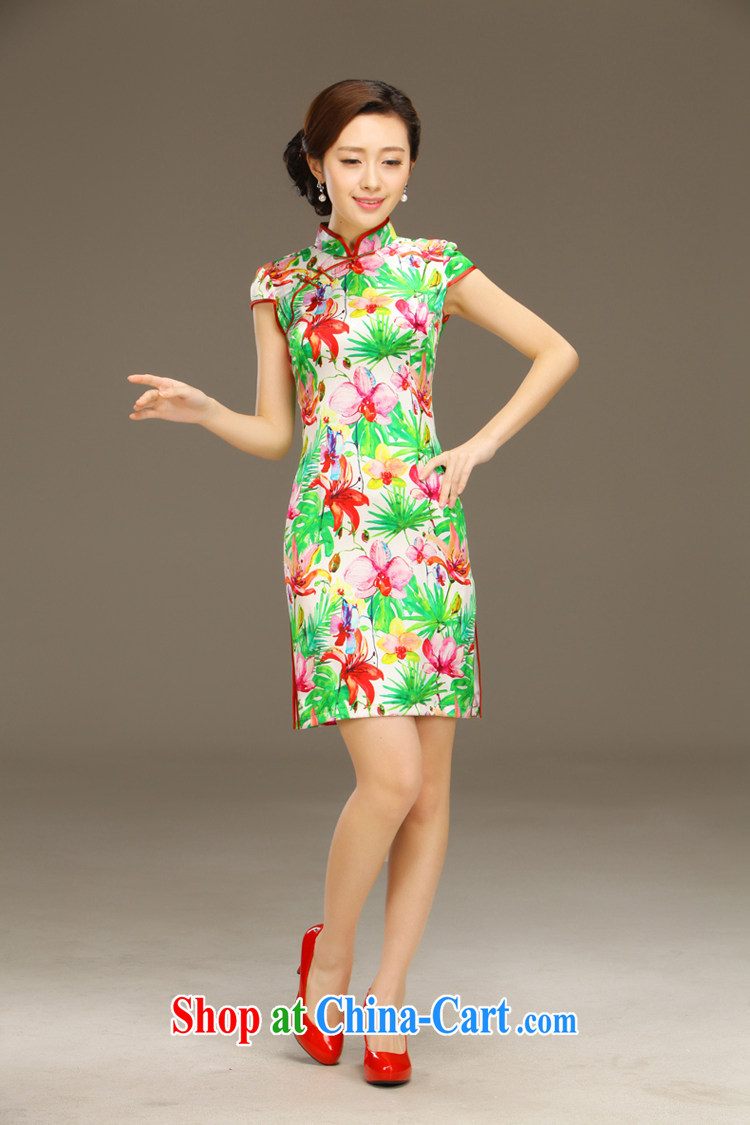 Slim li know Fairview Park, Jiafeng Silk Cheongsam dress new summer retro dresses short daily improved dress beauty workshops QLZ Q 15 6049 Fairview Park, Jiafeng XXL pictures, price, brand platters! Elections are good character, the national distribution, so why buy now enjoy more preferential! Health