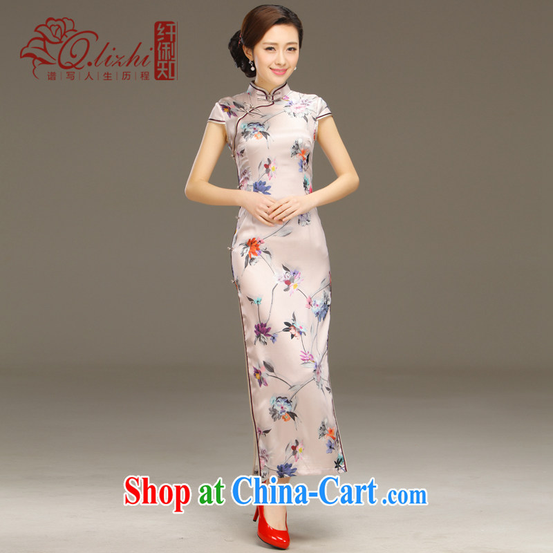 The reason that I should be grateful if you would have capacity-building retro beauty and stylish improvement of Korea long cheongsam dress everyday summer wear new QLZ Q 15 6050 I should be grateful if you would arrange capacity XXL