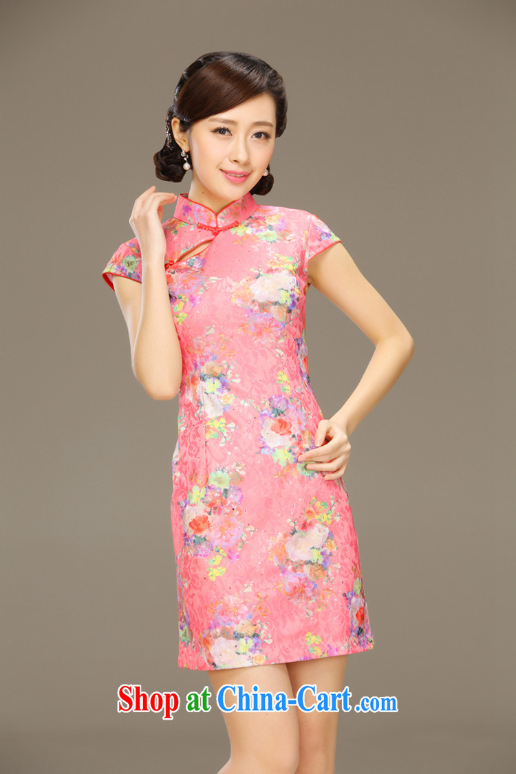 Slim Li known high mortality rates Sau San video thin style summer retro dress lace dress improved fashion cheongsam QLZ Q 15 6051 pink XXL pictures, price, brand platters! Elections are good character, the national distribution, so why buy now enjoy more preferential! Health