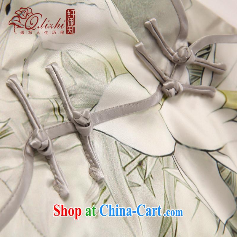 Slim li know that I should be grateful if you, 2015 summer fashion improved cultivating cheongsam dress retro long Silk Cheongsam QLZ Q 15, 6053 XXL I should be grateful if you, the dirty (Q . LIZHI), online shopping