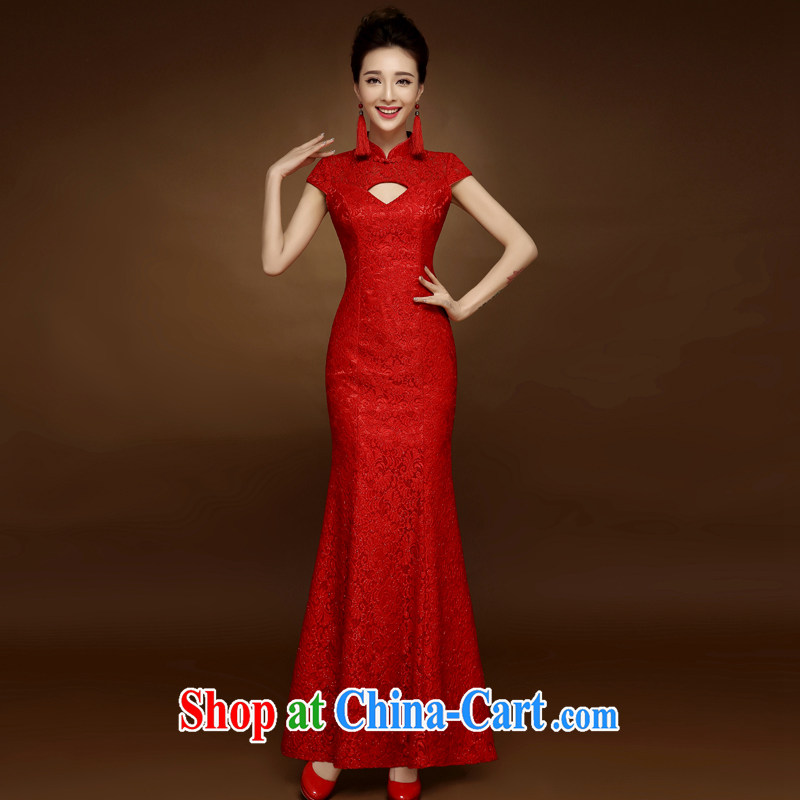 A good service is 2015 new dresses for Spring Summer bridal toast clothing red marriage Chinese Dress married Yi red 2 XL