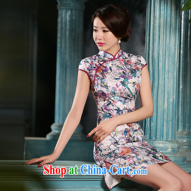 Mr. Kaplan 2015 spring and summer new cheongsam dress sober Beauty Fashion improved daily jacquard cotton robes short PL 307 photo color XXL pictures, price, brand platters! Elections are good character, the national distribution, so why buy now enjoy more preferential! Health