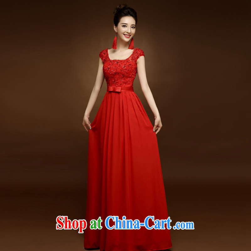 A good service is a 2015 new bridal wedding dresses serving toast long spring and summer red Chinese Dress married Yi red 3XL
