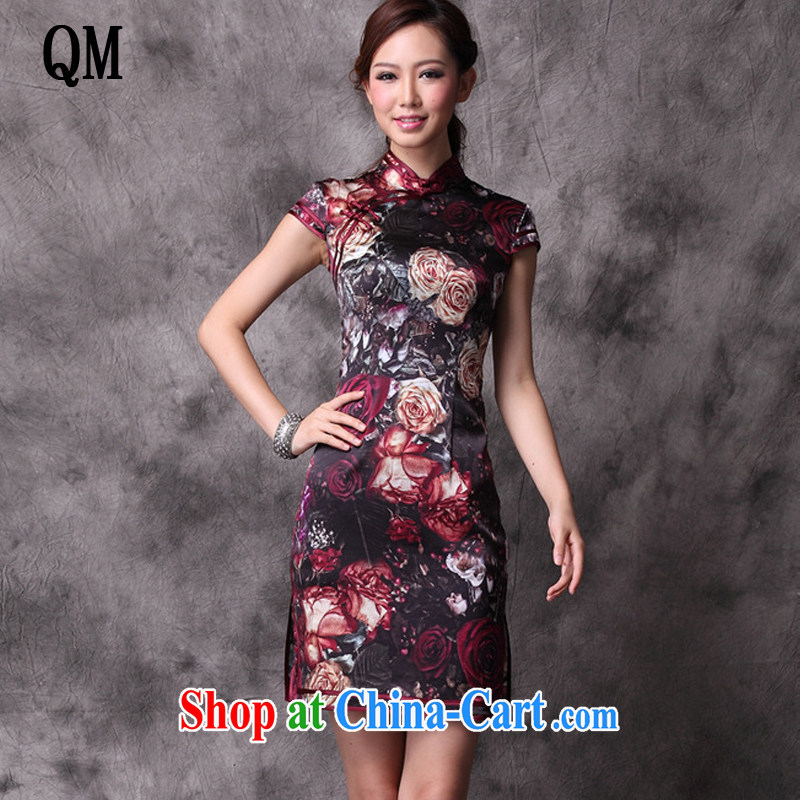 Shallow end summer Stylish retro new and improved, heavy silk Chinese qipao counters upscale dresses skirts XWG 12,018 - 21 Map Color XXXXL