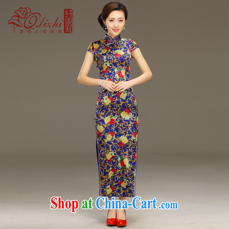 Slim li know Genius summer 2015 new daily long beauty banquet dresses improved retro dresses sexy QLZ Q 15 6054 Genius XXL