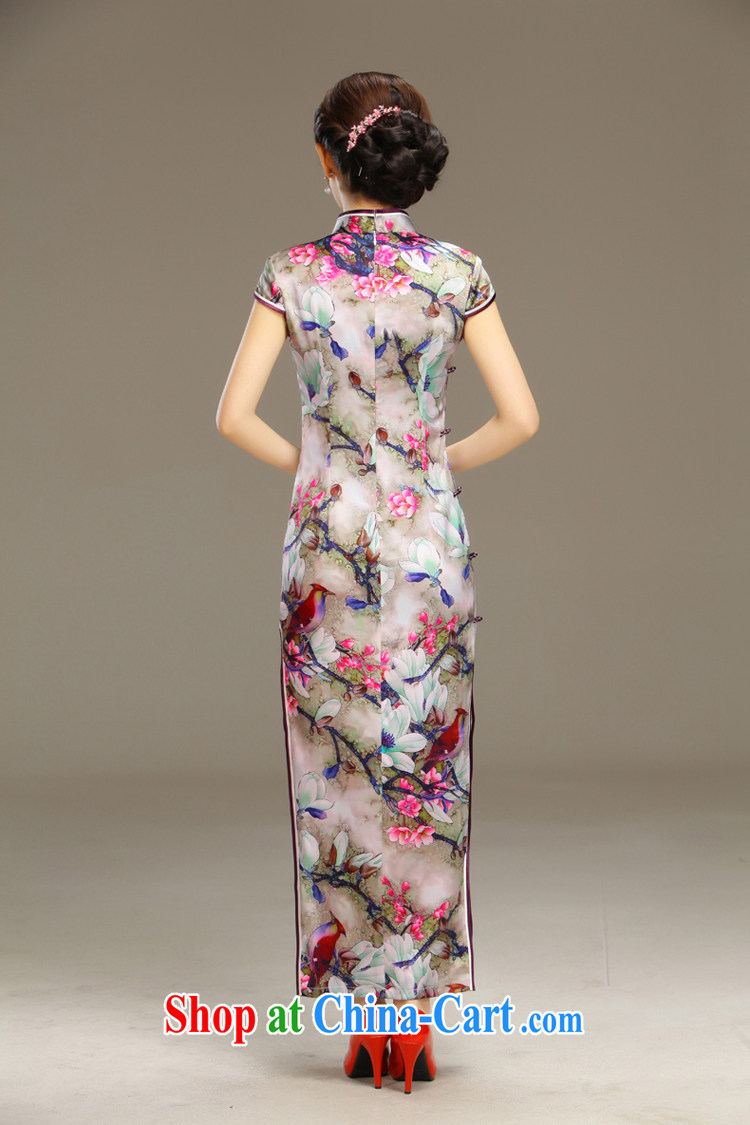 Slim li know smoke Ngai retro Beauty Fashion improved sense of Korea long cheongsam dress daily spring and summer new QLZ Q 15 6055 smoke Ngai XXL pictures, price, brand platters! Elections are good character, the national distribution, so why buy now enjoy more preferential! Health