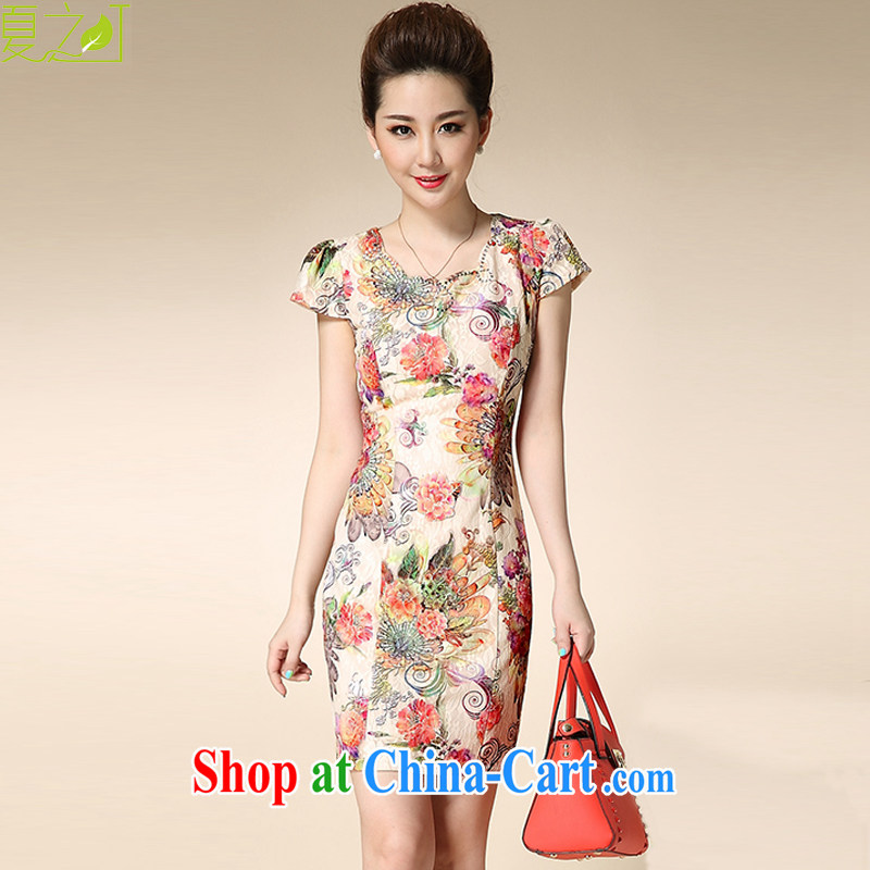 Mr Ronald ARCULLI's Foreign Minister Nobutaka Machimura new improved stylish beauty lace cheongsam dress retro elegant cheongsam dress X 5081 all the Peony XXL