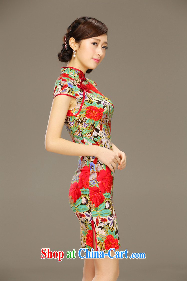 Slim li know Hong Kong dust 2015 new dresses spring and summer improved stylish cotton cultivation the cheongsam dress style QLZ Q 15 6057 Hong Kong dust XXL pictures, price, brand platters! Elections are good character, the national distribution, so why buy now enjoy more preferential! Health