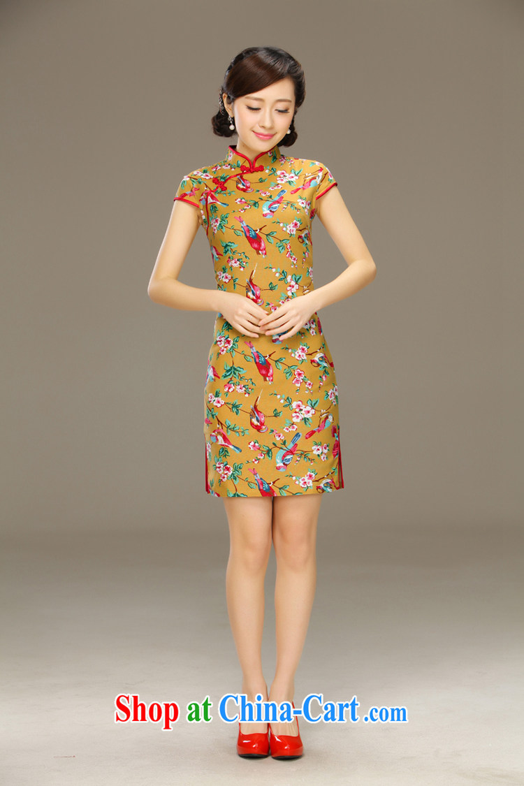 The dirty little known world linen dresses summer improved Stylish retro National Korea wind cotton mA short cheongsam dress QLZ Q 15 6058 micro-world XXL pictures, price, brand platters! Elections are good character, the national distribution, so why buy now enjoy more preferential! Health