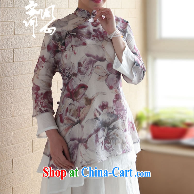 Asked about Ramadan and the elections as soon as possible and girls spring and summer new Chinese, for the charge-back ares T-shirt Chinese Water ink wind jacket 1945 red stamp L code brassieres 100 CM