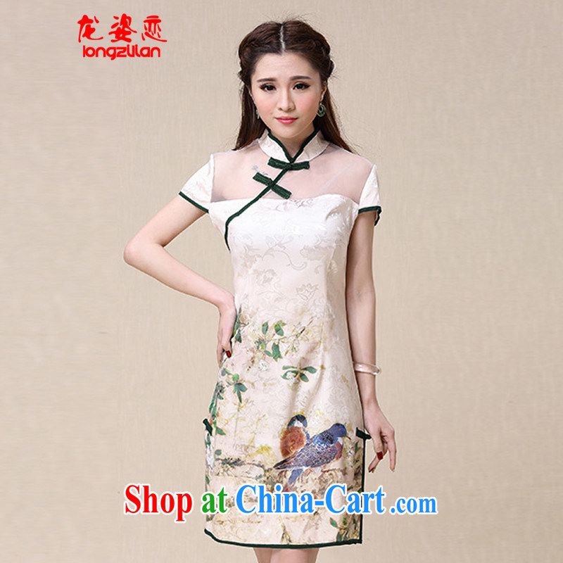 Kowloon City Land summer 2015 national air-cultivating high-end elegant qipao dresses female FL C 3072 - 8952 Map Color XXL