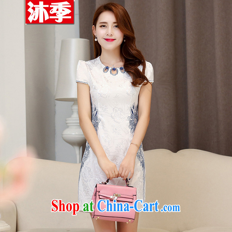 Mu season 2015 new summer lady stylish beauty improved cheongsam dress 1535 Hester Prynne XXL