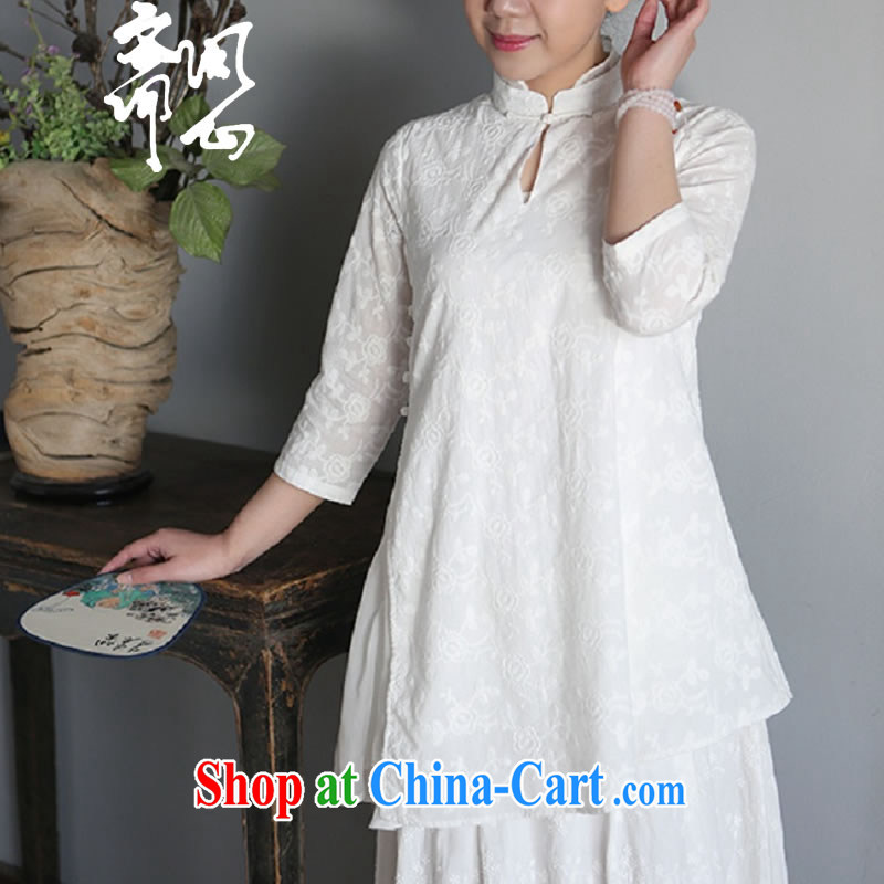Asked about Ramadan and the elections as soon as possible and girls spring and summer NEW classic Chinese wind jacket jacquard small, for silk lining T-shirt 1951 white embroidered L code brassieres 100 CM