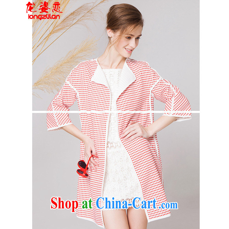 Kowloon City Land-wind jacket in Europe spring style has been in the barrel long windbreaker GT 452 - A, 9148 red are code