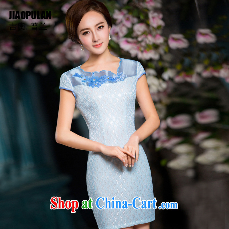 Mr. Kaplan lace dresses summer 2015 new short cheongsam daily improved beauty lady China wind PL 164 photo color 164 XXL