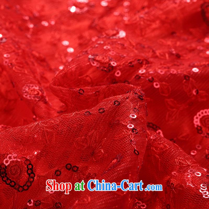 Jin Bai Lai cheongsam dress improved 2015 summer Style Fashion nets high-end wedding dress short-sleeved dress uniform toast pink 4 XL idealistically Bai Lai (C . Z . BAILEE), online shopping