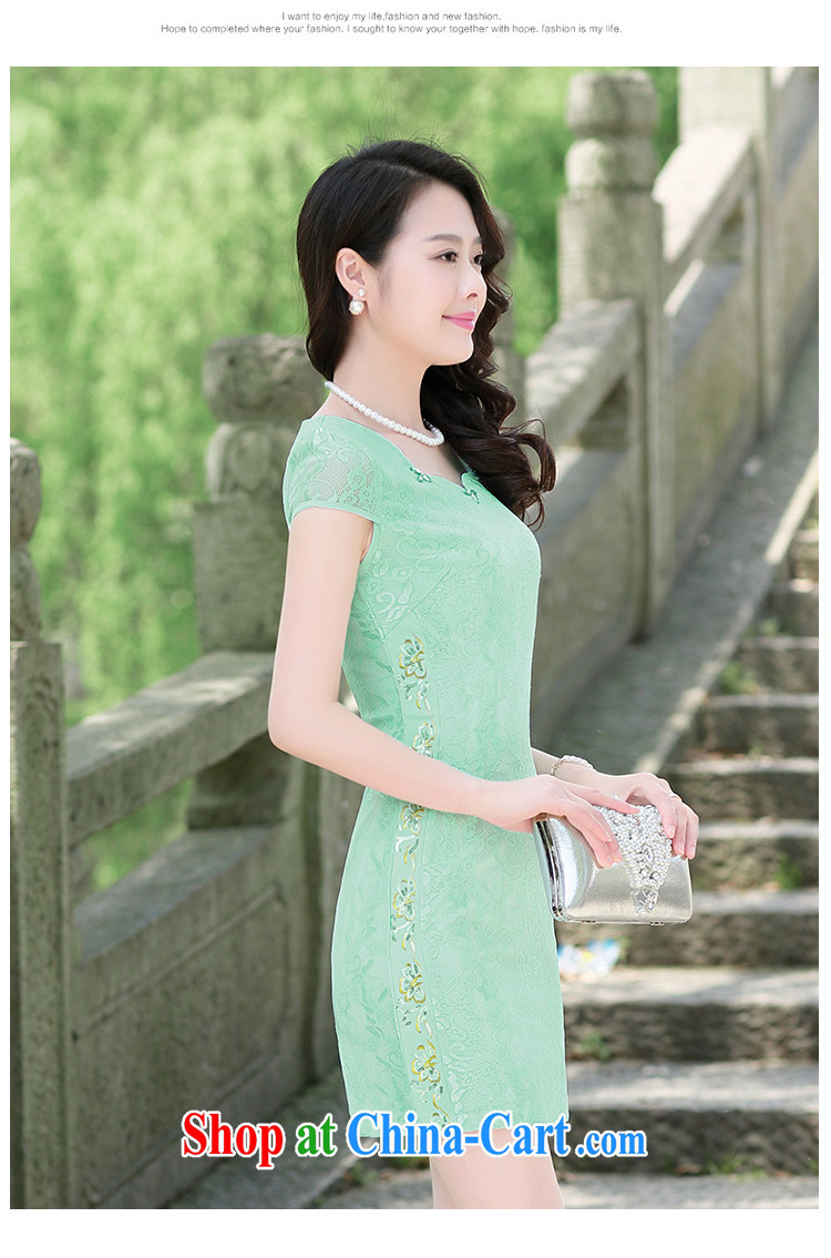 Mansfield, valley, summer 2015 new Chinese elegant antique beauty graphics thin package and improved cheongsam dress pink XL pictures, price, brand platters! Elections are good character, the national distribution, so why buy now enjoy more preferential! Health