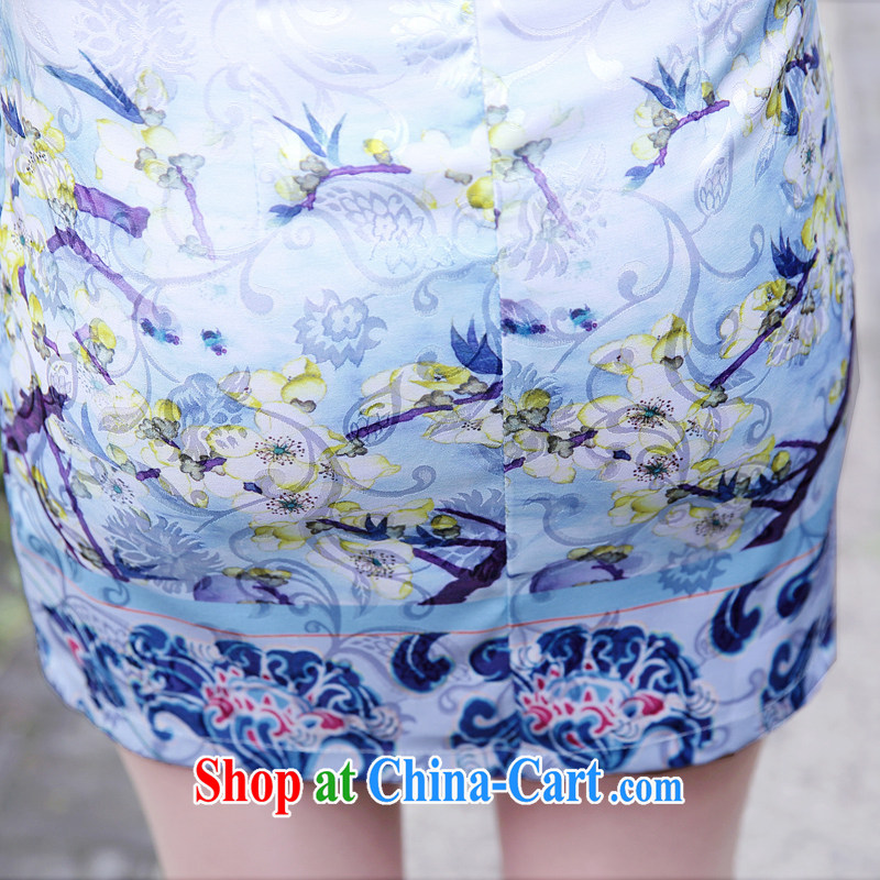 Summer 2015 new stylish and refined beauty, stamp duty cheongsam dress female toner Phillips L, Mr Tung Chee Hwa (Miss . Dong), shopping on the Internet