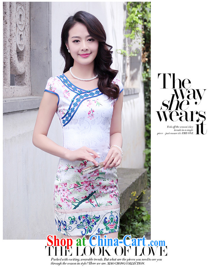 Mansfield, valley, summer 2015 new stylish and refined beauty, stamp duty cheongsam dress female blue plum XXL pictures, price, brand platters! Elections are good character, the national distribution, so why buy now enjoy more preferential! Health