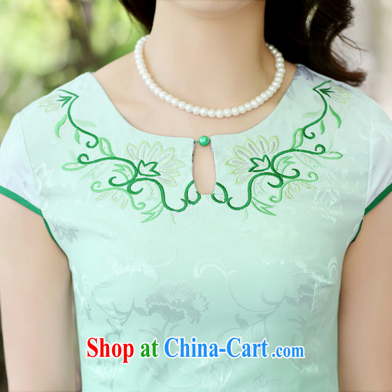 Summer 2015 new cheongsam dress short-sleeved beauty stamp National wind package and qipao female toner the Peony L, Ms. Tung Chee Hwa (Miss . Dong), shopping on the Internet