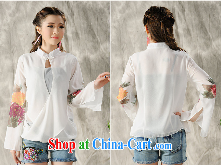 Hsichih, Alice 2015 new hand-painted long-sleeved T-shirt cheongsam Chinese Spring Chinese Ethnic Wind women 7298 #black M pictures, price, brand platters! Elections are good character, the national distribution, so why buy now enjoy more preferential! Health