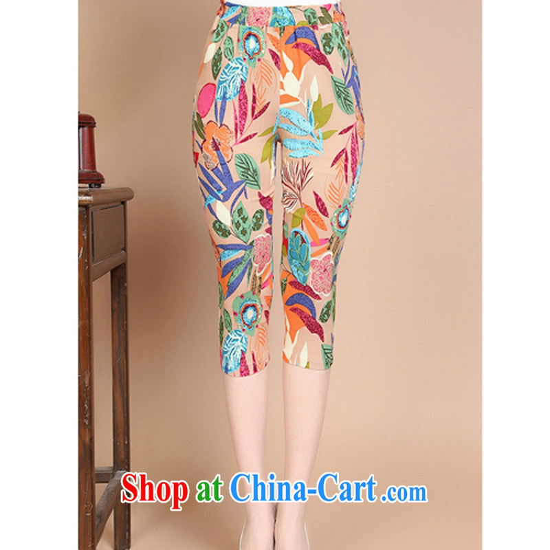 JA the 2015 summer on the new beauty salon rhythm in older mothers with Tang pants FGR - B 935 flowers XL