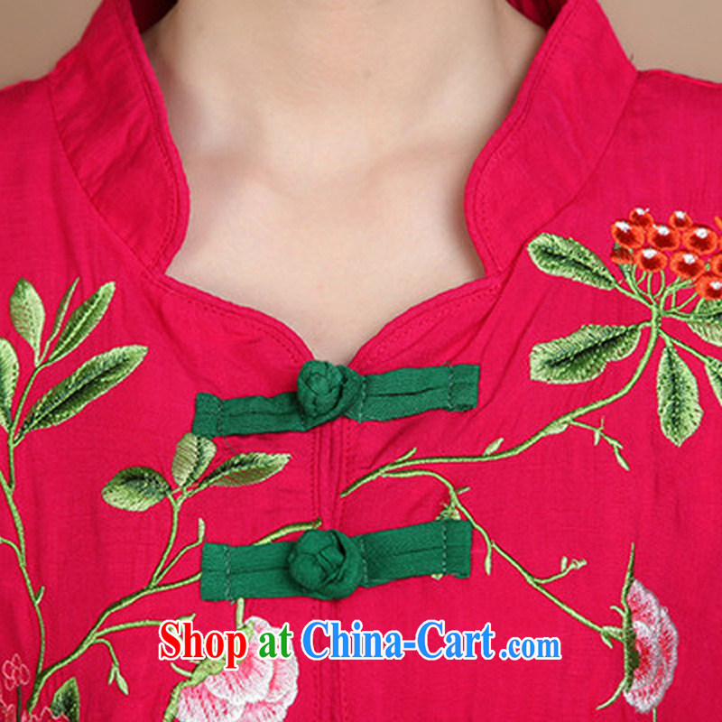 Tze-The 2015 summer on the new National wind loose the code cotton embroidered hook-up cost for mothers with Tang Replace T pension FGR - A 5358 black XXXL Ja, ink, and shopping on the Internet