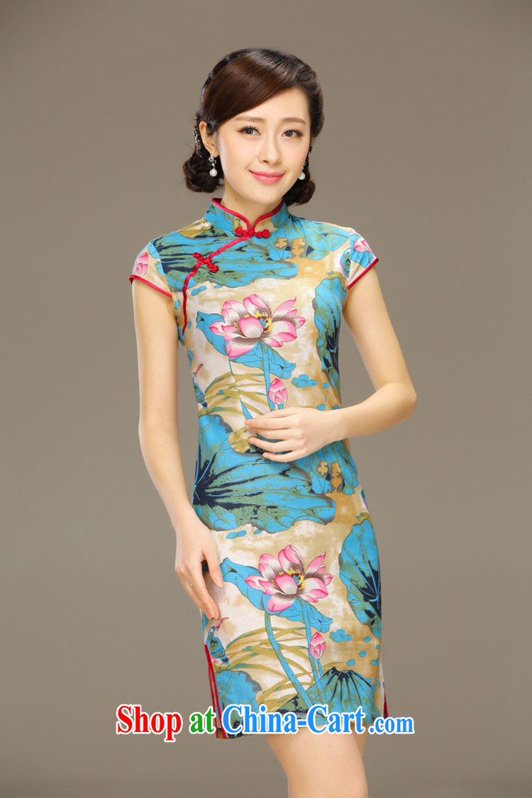 Slim li know Lin, the cotton summer dresses stylish short-sleeve retro short, cultivating graphics thin Chinese improved dresses QLZ Q 15 6059 Lin - the dust XXL pictures, price, brand platters! Elections are good character, the national distribution, so why buy now enjoy more preferential! Health