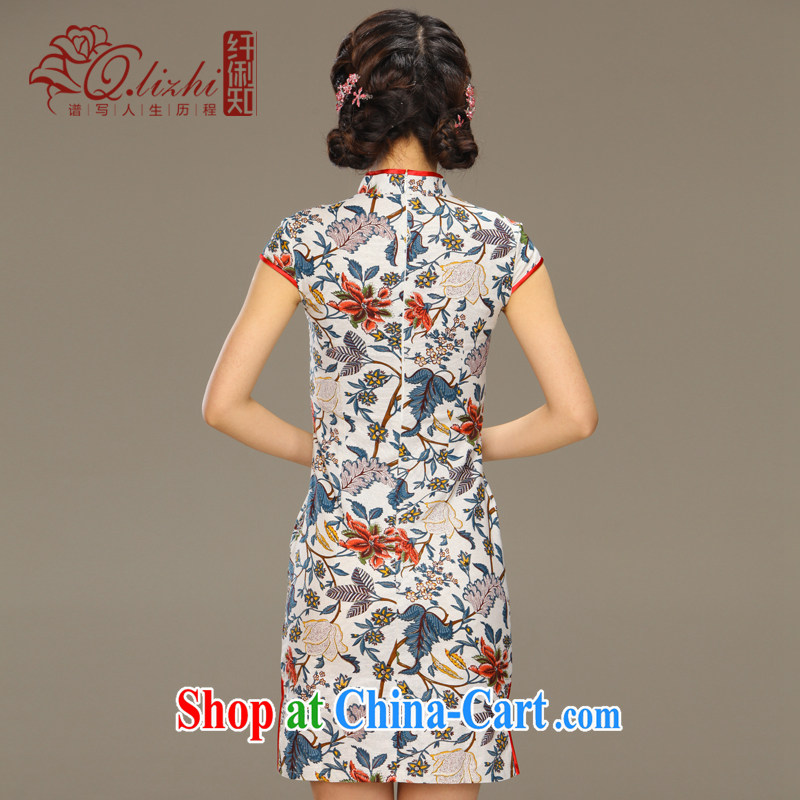 Slim li know that flick to spend National wind girls cotton the dresses, Chinese Antique summer-tie linen dresses QLZ Q 15 6060 flick to spend XXL, slim Li (Q . LIZHI), online shopping