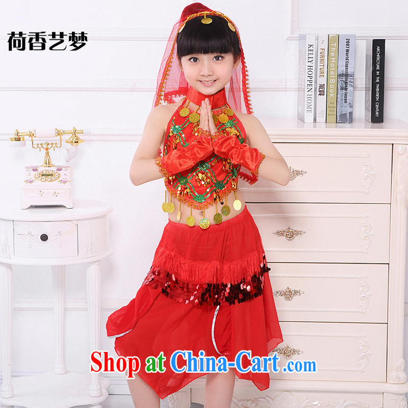 I should be grateful if you would arrange for her dream children 61 Indian dance Xinjiang dance performances serving girls Belly Dance Dance Dance Performance Service red 140