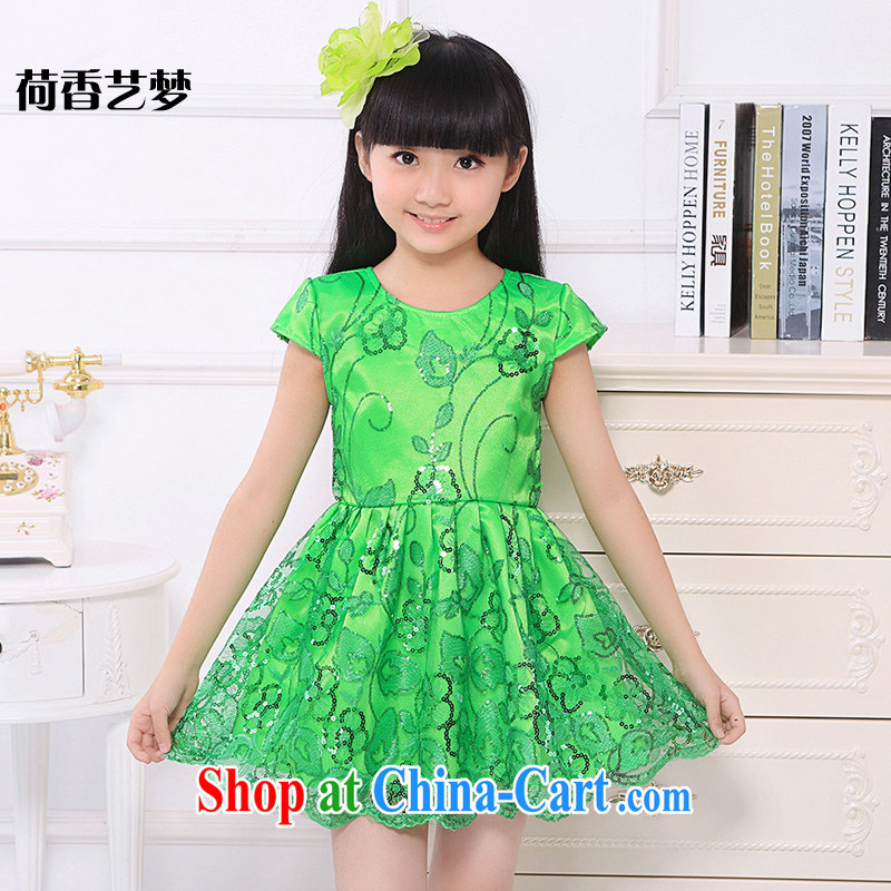 I should be grateful if you would arrange for her dream 61 children's dance performances serving serving girls dance skirt child Princess skirt modern dance service green 160