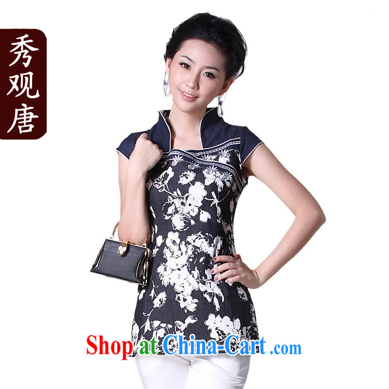 Cyd Ho Kwun Tong in a dream I would be grateful if Mr Ronald ARCULLI open for Chinese Women summer dresses T-shirt_Chinese Ethnic Wind female G 12,131 picture color S