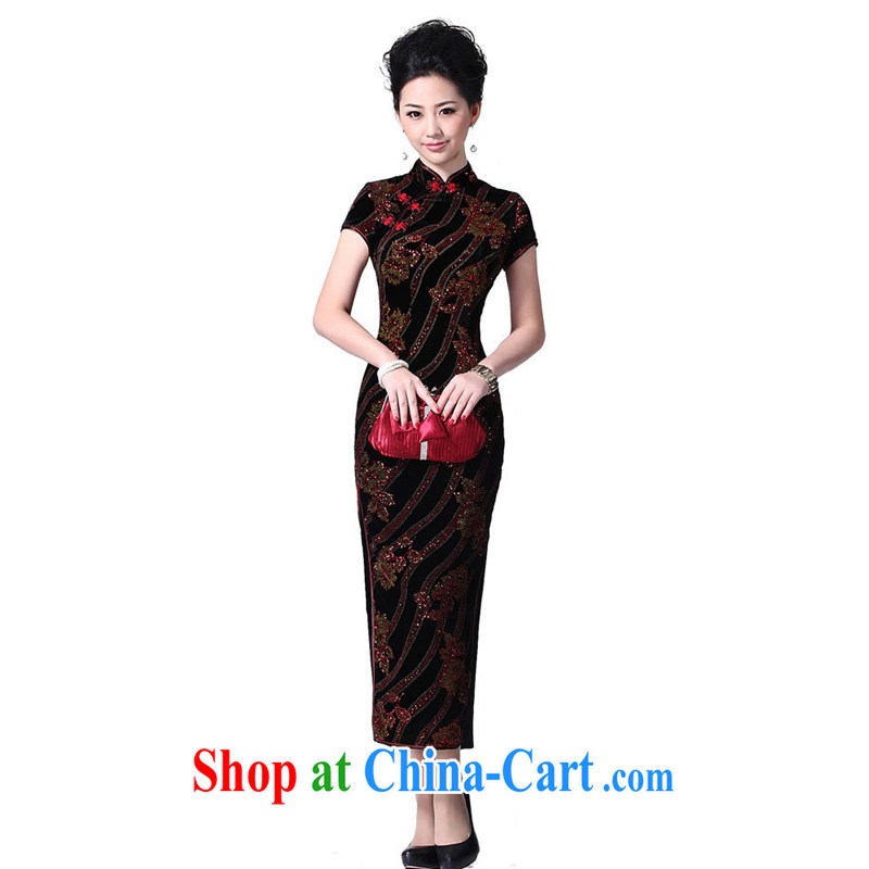 Cyd Ho Kwun Tong Jin Yu Man Tang graceful velvet cheongsam MOM/long cheongsam dress/evening dress SG 13,999 purple XXL