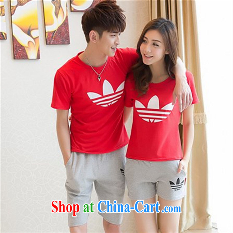 Black butterfly 2015 Korean version couples with sport and leisure couples T shirts beach shorts couple short-sleeve shirt T summer white + Gray trousers and 6186 XXL pictures, price, brand platters! Elections are good character, the national distribution, so why buy now enjoy more preferential! Health