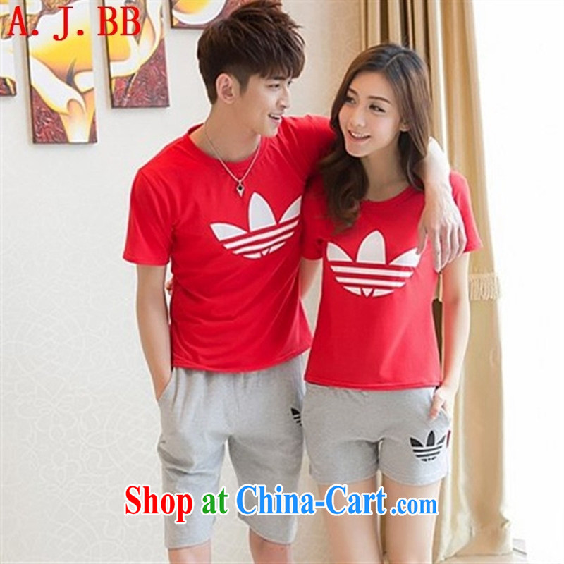 Black butterfly 2015 Korean couples with sport and leisure couples T shirts beach shorts for couples short-sleeve shirt T summer white + Gray trousers and 6186 XXL, A . J . BB, and shopping on the Internet