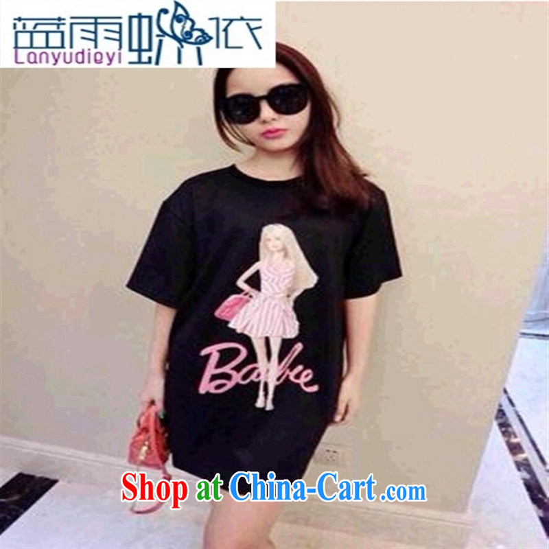 Ya-ting store 2015 new spring stylish casual simplicity Barbie dolls long T white are code