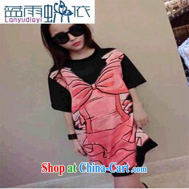 Ya-ting store 2015 new spring fashion leisure minimalist patterns 100 a long, cultivating T black L