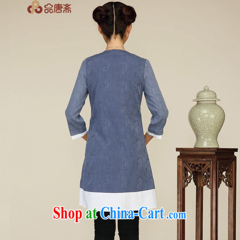 Mr Henry Tang, Id al-Fitr 2015 Chinese cotton Ms. Ma female original improved Han-ethnic wind retro clothing Zen deep royal blue XL, Tang Id al-Fitr, shopping on the Internet