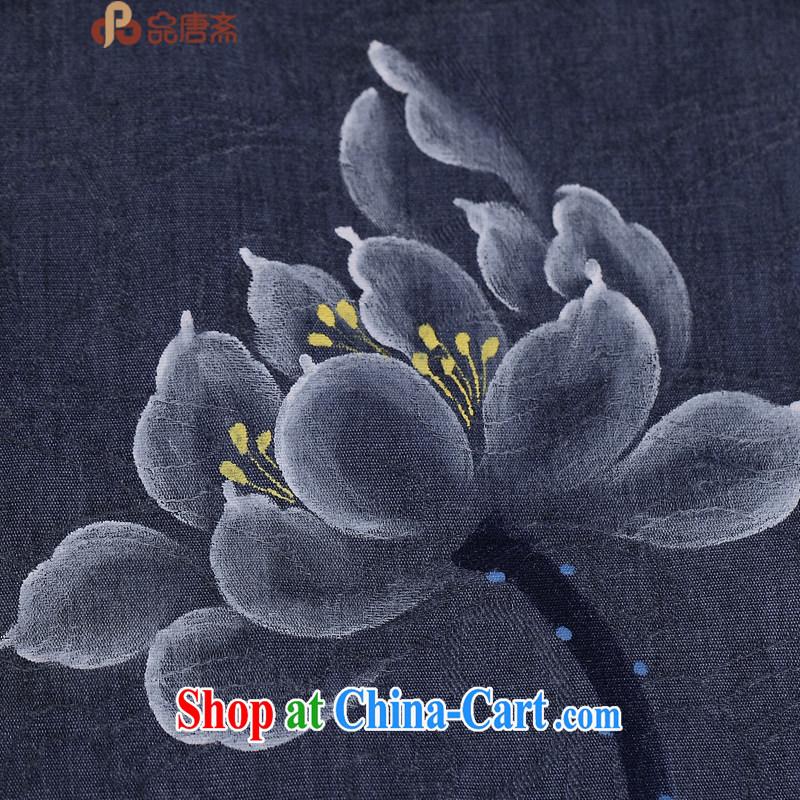 Mr Henry Tang, Id al-Fitr 2015 Chinese cotton Ms. Ma female original improved Han-ethnic wind retro clothing Zen deep royal blue XL, Tang Id al-Fitr, shopping on the Internet