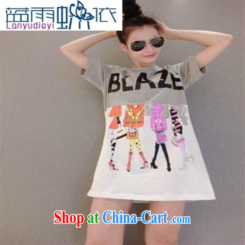 Ya-ting store 2015 spring letter stitching Beauty Figure long T pension black are code