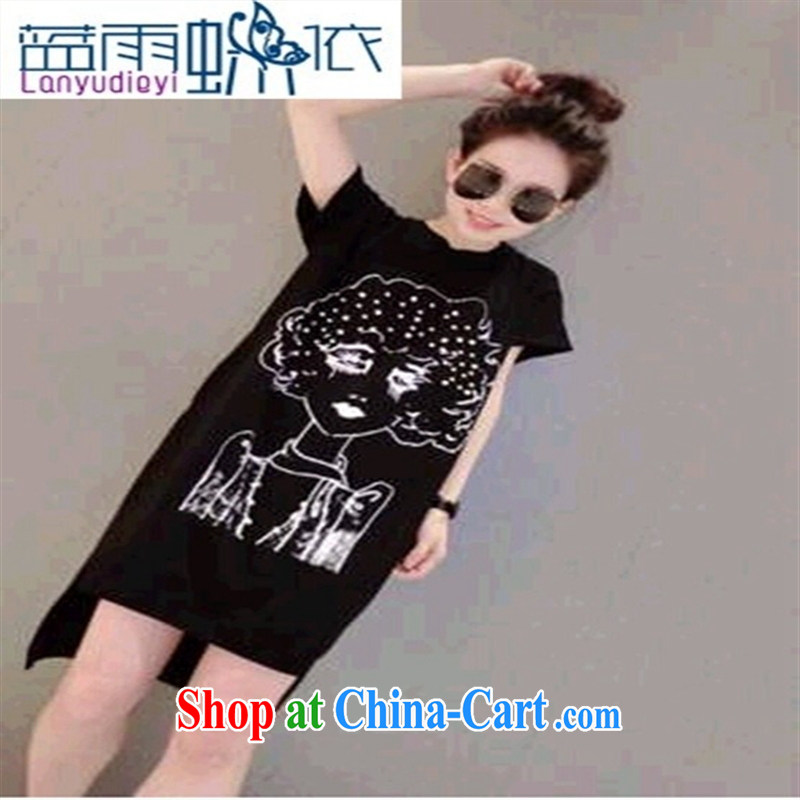 Ya-ting store 2015 new spring stylish casual simplicity and black to work the bead woman Head, white T L