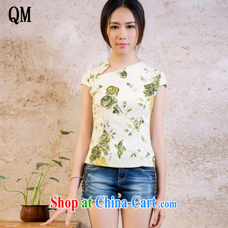 Shallow end female linen elegant qipao improved stylish robes JT 2080 for a night XL