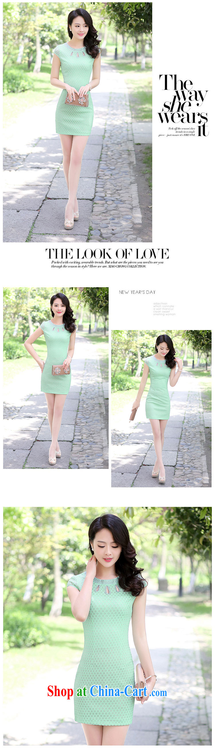 2015 summer short tide cheongsam mom with cheongsam dress stylish girls improved Daily Beauty graphics thin style 1509 apricot XXXL pictures, price, brand platters! Elections are good character, the national distribution, so why buy now enjoy more preferential! Health