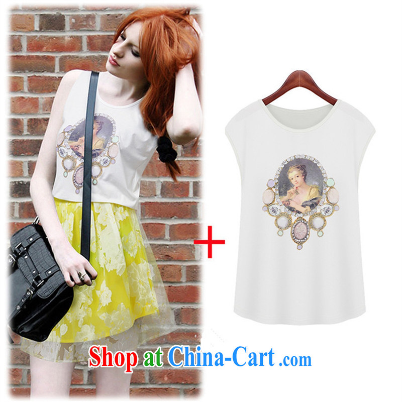The European site summer 2015 women fashion round collar sleeveless beauty picture hot picture T pension 5162 A click T pension XL