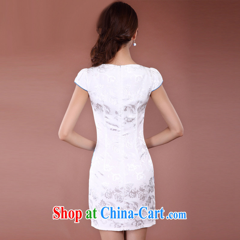 Stakeholders line cloud Chinese qipao elegant, long, no's style improved cheongsam JT 915 white XXL stakeholders, the cloud (YouThinking), and, on-line shopping