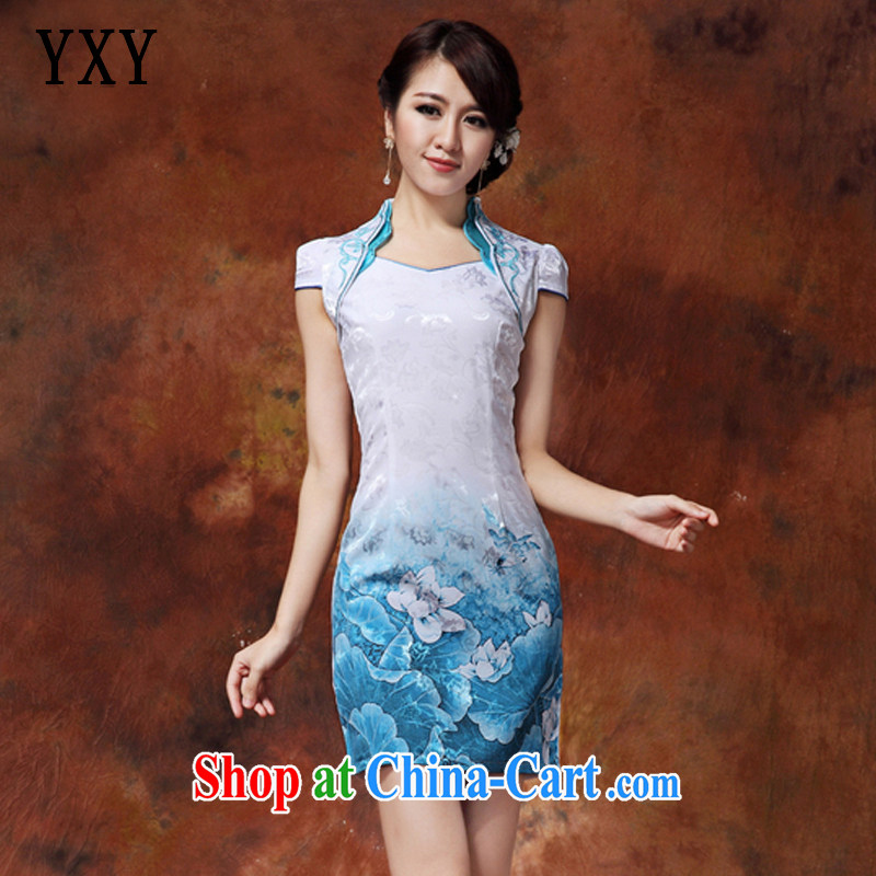 Stakeholders line Cloud, for Chinese Tang on the Code, long, improved cheongsam JT _919 I would be grateful if Bluetooth XXL