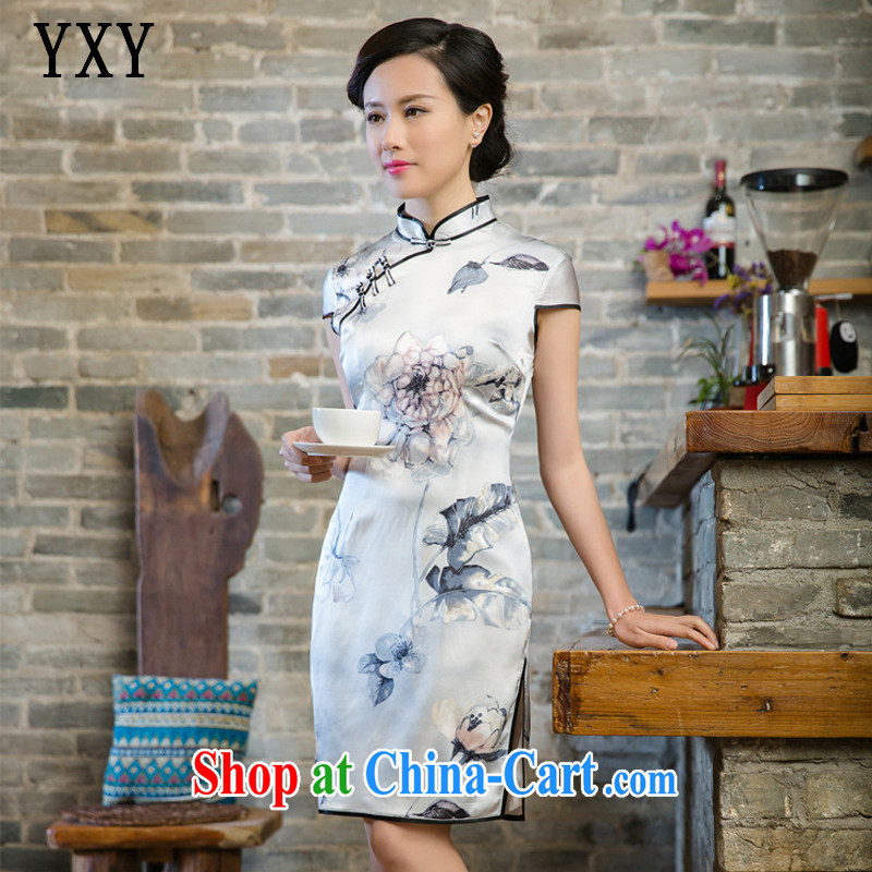 Stakeholders line cloud retro sauna silk heavy Silk Dresses summer dresses JT 5081 white XXL